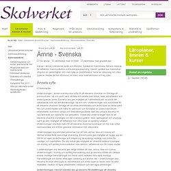 Ämne - Svenska (Gymnasieskolan)
