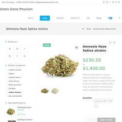 Amnesia Haze Royal Seed Strain by Green Genie Provision