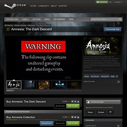 Save 50% on Amnesia: The Dark Descent on Steam