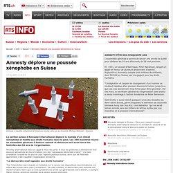 Amnesty déplore une poussée xénophobe en Suisse - tsr.ch - info - suisse