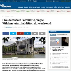 Fraude fiscale : amnistie, Tapie, Wildenstein...l'addition du week-end