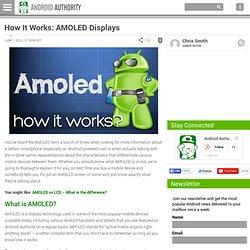AMOLED Displays: How It Works