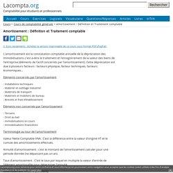 Amortissement : Définition et Traitement comptable