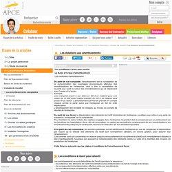 Les dotations aux amortissements - APCE, agence pour la création d'entreprises