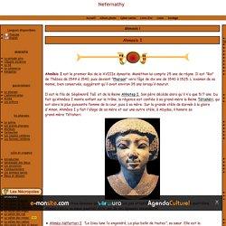 Amosis I pharaon de l'égypte antique