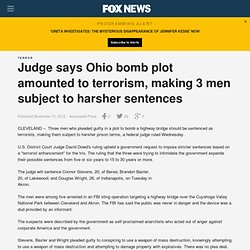 Judge says Ohio bomb plot amounted to terrorism, making 3 men subject to harsher sentences