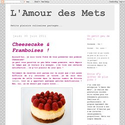 Cheesecake & Framboises !
