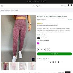 Amour Wine Seamless Leggings – Sarah Jayy