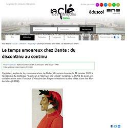 Le temps amoureux chez Dante : du discontinu au continu — Italien