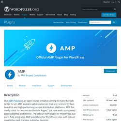 AMP – WordPress plugin