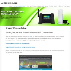 Amped Wireless setup