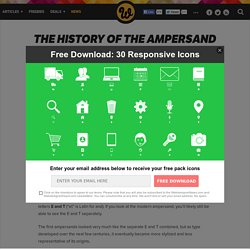 The History of the Ampersand and Showcase