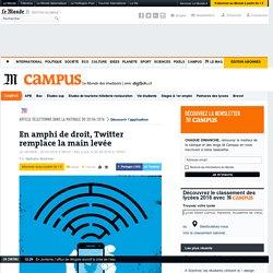 En amphi de droit, Twitter remplace la main levée