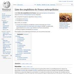 Liste des amphibiens de France métropolitaine