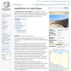 Amphithéâtre de Leptis Magna