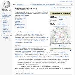Amphithéâtre de Néron