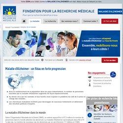 L'ampleur de la maladie d'Alzheimer en France et dans le monde