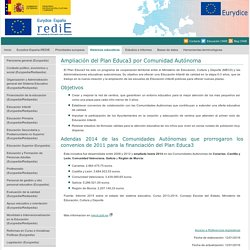 Ampliación del Plan Educa3 por Comunidad Autónoma - Redie-Eurydice