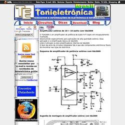 Amplificador estéreo de 10 + 10 watts com tda2009