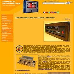 Amplificador de 240W para sonido ambiental