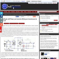 Amplificador de RF linear usando o transistor BLY90 para transmissores de fm ou aplicações de alta potência em vhf