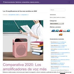Los 10 amplificadores de Voz más vendidos en 2020 – □ Guía de productos: Opiniones, comparativas, mejores precios …