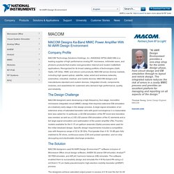 MACOM Designs Ka-Band MMIC Power Amplifier With NI AWR Software