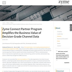 Zyme Connect Partner Program Amplifies The Business Value of Decision-Grade Channel Data