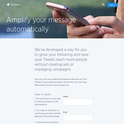 Amplify your message automatically