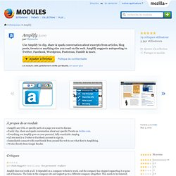 Amplify :: Modules pour Firefox