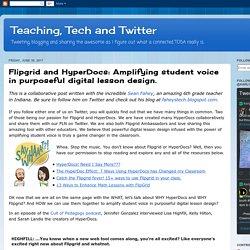 Amplifying student voice in purposeful digital lesson design.
