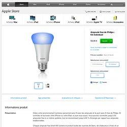 Ampoule Hue de Philips - Kit individuel