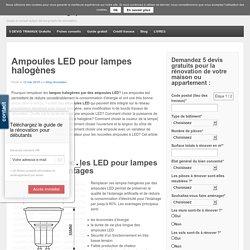 Ampoules LED pour lampes halogènes