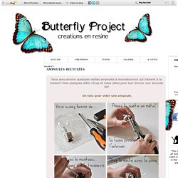 Ampoules recyclées - The Butterfly Project