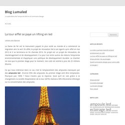 Amppoule led et Tour eiffel