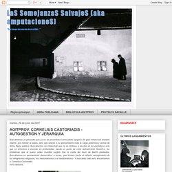 AGITPROV. CORNELIUS CASTORIADIS - AUTOGESTIÓN Y JERARQUÍA