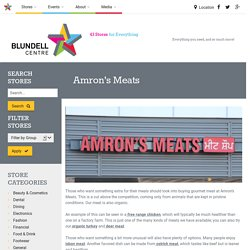 Amron's Meats for buying gourmet meat