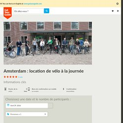 Amsterdam: location de vélo à la journée