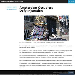 Amsterdam Occupiers Defy Injunction