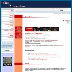Club of Amsterdam - Shaping Your Future in the Knowledge Society
