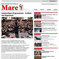 Amsterdam: al gewonnen - Leiden: net begonnen