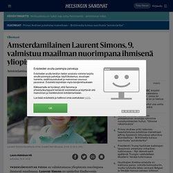 Amsterdamilainen Laurent Simons, 9, valmistuu maailman nuorimpana ihmisenä yliopistosta - Ulkomaat
