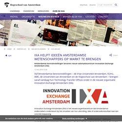 IXA helpt ideeën Amsterdamse wetenschappers op markt te brengen - Hogeschool van Amsterdam