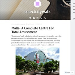 Malls- A Complete Centre For Total Amusement – selectcitywalk