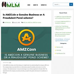 Is AMZCoin a Genuine Business or A Fraudulent Ponzi scheme?
