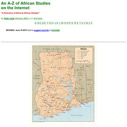 An A-Z of African Studies on the Internet a1