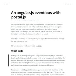 An angular.js event bus with postal.js