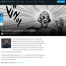 An artist's guide to contracts
