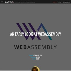 An early look at WebAssembly