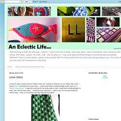 An Eclectic Life: Linen Stitch